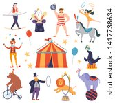set of circus artists and... | Shutterstock .eps vector #1417738634