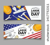 happy labor day construction... | Shutterstock .eps vector #1417752311