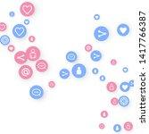 social media marketing ... | Shutterstock .eps vector #1417766387