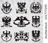 Set of heraldic coats of arms