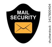 security lock mail icon... | Shutterstock .eps vector #1417800404