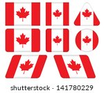 set of buttons with flag of... | Shutterstock .eps vector #141780229