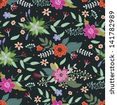 bright vintage floral pattern | Shutterstock .eps vector #141782989