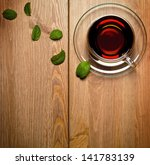 tea mint in glass cup with... | Shutterstock . vector #141783139