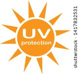 uv protection logo and icon on...