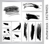 set of grunge vector pen | Shutterstock .eps vector #141784051