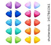 set of 10 pairs arrow glossy...