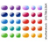 colorful oval  rounded square...