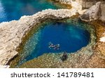 Underwater Cave In The Form Of...