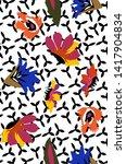 geomertrc color  pattern pr nt... | Shutterstock . vector #1417904834