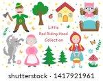 cute  little red riding hood... | Shutterstock .eps vector #1417921961