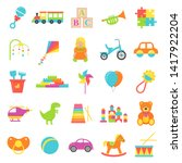 Baby Toy. Vector. Set Kids Toys ...