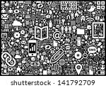 social media background | Shutterstock .eps vector #141792709