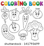 coloring book vegetable theme 1 ... | Shutterstock .eps vector #141793699