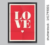 love quote poster. effects... | Shutterstock .eps vector #141795001