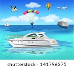 life on the sea | Shutterstock .eps vector #141796375