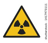 vector icon sign radiation.... | Shutterstock . vector #1417973111