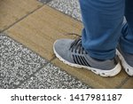 tactile paving is a system of... | Shutterstock . vector #1417981187