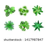 trees top view for... | Shutterstock .eps vector #1417987847