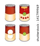 template tin can tomato soup... | Shutterstock .eps vector #141799969