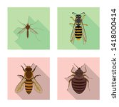isolated object of insect and... | Shutterstock .eps vector #1418000414