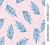 watercolor pattern with blu... | Shutterstock . vector #1418011127