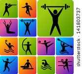 set of sports icons  shooting ... | Shutterstock .eps vector #141803737