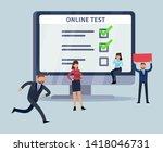 online survey. smartphone...
