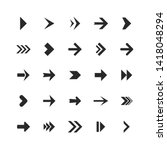 arrows set. arrow icons down... | Shutterstock . vector #1418048294