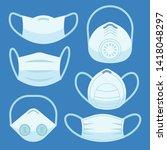 face pollution mask. medical... | Shutterstock . vector #1418048297