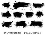 ink splashes. black inked... | Shutterstock . vector #1418048417