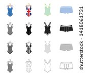 vector illustration of bikini...   Shutterstock .eps vector #1418061731