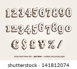 Vector Hand Drawn Numbers And...