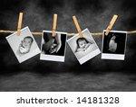instant photos of an newborn... | Shutterstock . vector #14181328