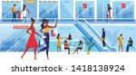 couple of girl friends spending ...   Shutterstock .eps vector #1418138924