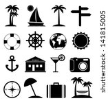 travel icons | Shutterstock .eps vector #141815005