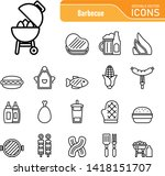 barbecue   food   iconset ... | Shutterstock .eps vector #1418151707