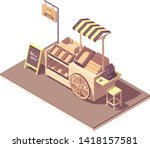 vector isometric wooden farmer... | Shutterstock .eps vector #1418157581