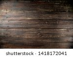 Dark Old Rustic Wooden...