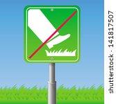 Do Not Step On Grass   Vector ...