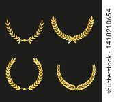 set of laurels icons isolated...   Shutterstock .eps vector #1418210654