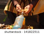 pipe maker working the wood | Shutterstock . vector #141822511