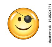 smiling face with pirate eye... | Shutterstock .eps vector #1418226791
