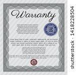 grey vintage warranty... | Shutterstock .eps vector #1418228504