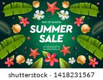 summer sale template  web... | Shutterstock .eps vector #1418231567