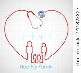 illustration of family made of... | Shutterstock .eps vector #141823327