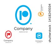 abstract bright modern logo... | Shutterstock .eps vector #1418245034