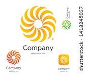 abstract bright modern logo... | Shutterstock .eps vector #1418245037