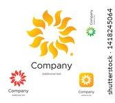 abstract bright modern logo... | Shutterstock .eps vector #1418245064