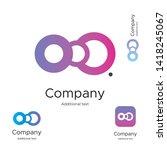 abstract bright modern logo... | Shutterstock .eps vector #1418245067